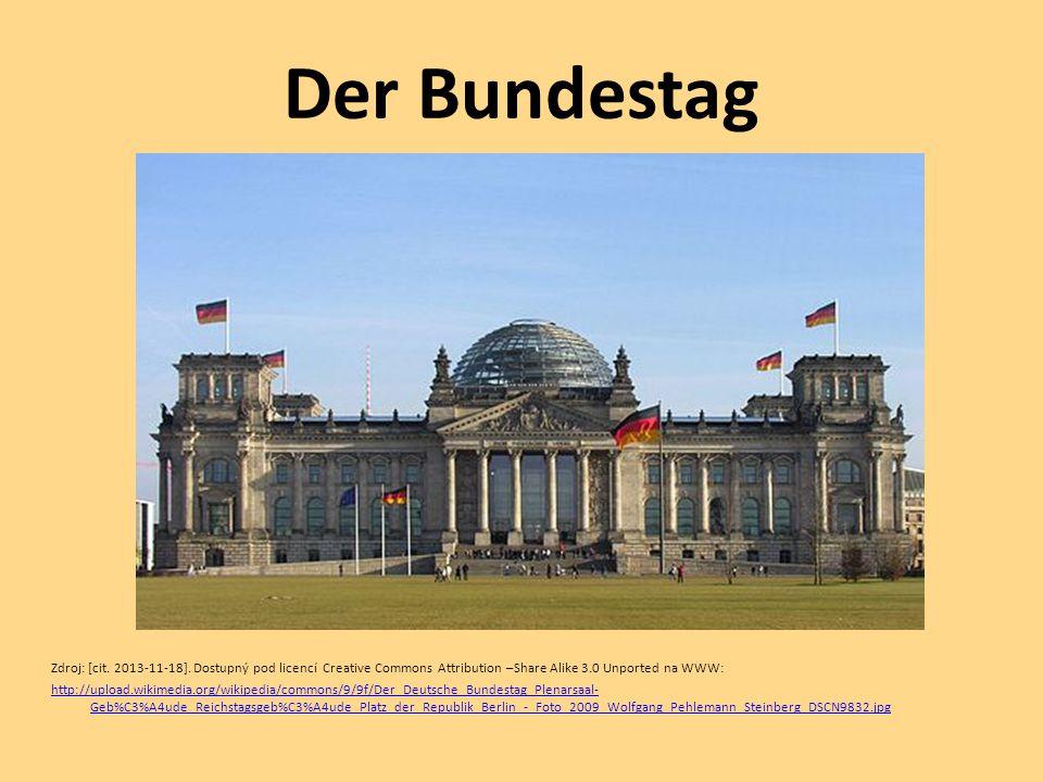 Der Bundestag Zdroj: [cit. 2013-11-18]. Dostupný pod licencí Creative Commons Attribution –Share Alike 3.0 Unported na WWW: